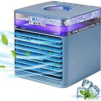 Mini Air Cooler, JIMACRO Mobile Klimageräte Tragbare Luftkühler, 4 in 1 Luftbefeuchter Luftreiniger und Ventilator…