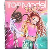 Depesche TOPModel 11453 Kleurboek Dance, coole tanzoutfits om zelf vorm te geven, 30 voorgetekende figuren, 3 sjablonen, 2 st