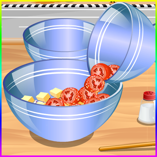 Spiele, die Salatspiele kochen -