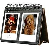 SAIKA 68 Taschenbuch-Album Polaroid Kalender-Fotoalbum Kompatibel Instax Mini 25 26 70 7s 90 / Polaroid Snap/Snap Touch / Z2300 / SocialMatic Instant-Kameras (Braun)