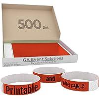 Bracelets d'admission GA Event Solutions en Tyvek, 500 pièces, rouge