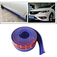 3A Featuretail Samurai PU Car Body Kit Bumper Lip Side Skirt Rubber Edge Decorative Protector (Blue)