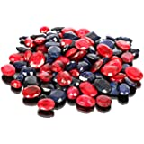 Piedras preciosas de zafiro azul natural rubí Lote 100 CT - 7 piezas de zafiro facetado, gemas sueltas de rubí para hacer joy