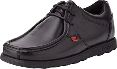 Kickers Men's Fragma Lace Up Black Leather Shoes