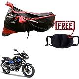 Kandid Red & Black Water Resistant Bike Cover for Bajaj Pulsar 150 DTS-I
