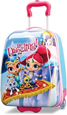 American Tourister Kids' Shimmer and Shine Hardside Upright 18, Pink/Yellow