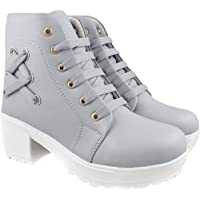 RINDAS Women's   Ladies   Females   Girls Comfortable, Synthetic Leather, Boots College Casual Boots