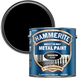 Hammerite Direct to Rust Metal Paint - Smooth Black Finish 2.5L