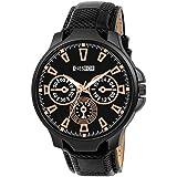 NESROR Analogue Men's Watch (Black Dial Black Colored Strap)