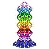 Veatree Bloques Magnéticos de Construcción para Niños Palos Magnéticos 206 Piezas Juguete Educativo para el Desarrollo Integr