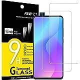 NEW'C 2-Stuks, Screen Protector voor Xiaomi Mi 9T, Mi 9T Pro, Redmi K20, K20 Pro, Gehard Glass Schermbeschermer Film 0.33 mm