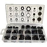 ALLNICE 125 stuks 18 maten Zwart rubberen doorvoertule Oogring Elektrische geleider Pakkingring Assortimentset voor het besch