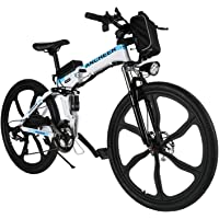 ANCHEER Faltbares E-Bike Elektrofahrrad mit 250W Motor, 26 Zoll Mountainbike Klapprad Pedelec 36V 8AH Lithium Akku 21…