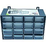 Acan Organizador apilable de plástico con 16 cajones, Clasificador 16 Compartimiento apilable, Cajonera Multiusos de Material
