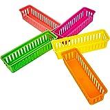 TTBD Paquet de 12 Plateaux pour Stylos et Paniers une Crayons, Couleurs VariéEs
