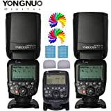 YONGNUO YN600EX-RT II Professional Creative TTL Master Flash speedlite 2PCS + YNE3-RT TTL Flashs Speedlite Transmetteur sans fil pour appareil photo Canon comme ST-E3-RT