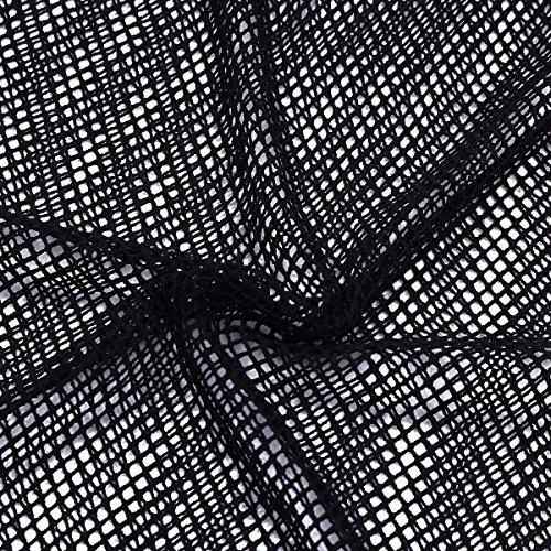 YiZYiF Herren Unterhemd aus Netz Transparent Unterwäsche Stretch Ringer T-shirt Tank Top Achselshirt Clubwear M-XL A- Schwarz