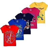 Kiddeo Girls' T-Shirt (Pack of 5)