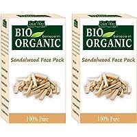 INDUS VALLEY Organic Sandalwood Face Pack - (200g*2=400g) Set of 2