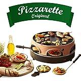 Emerio Pizzaoven, pizzaoven het origineel, 3-in-1 pizza-raclettegrill, gepatenteerd design, voor mini-pizza, echt familieplez