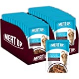 Meat Up Wet Dog Food, Real Chicken and Chicken Liver Chunks in Gravy, 12 Pouches (12 x 70g) - Buy 1 Get 1 Free