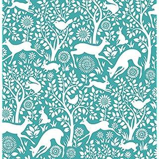 Woodland Meadow Wallpaper A Street Prints Non Woven Teal White Fine Decor