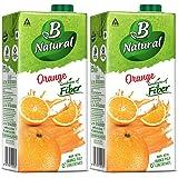 B Natural Orange Juice 1L, (Pack of 2)