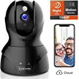 KAMTRON Security Camera 1080P Pet Camera Wireless Indoor Pan/Tilt/Zoom Home Camera Baby Monitor IP Camera with Motion Detection Two Way Audio, Night Vision(Cloud Storage)