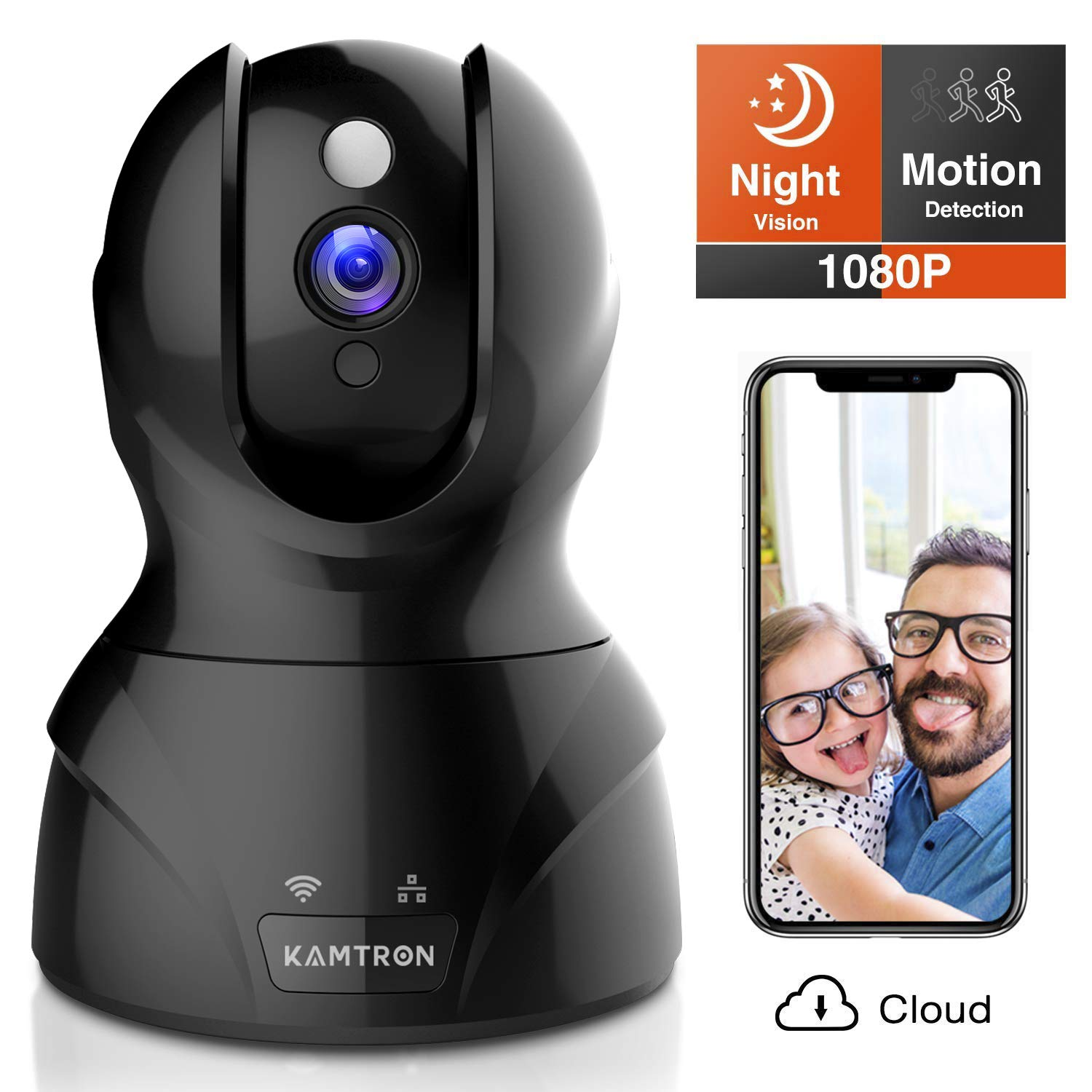 KAMTRON Security Camera 1080P Pet Camera Wireless Indoor Pan/Tilt/Zoom Home Camera Baby Monitor IP Camera with Motion…