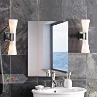 Art Street Frameless Rectangle Bevelled Glass Mirror (Silver, 12 x 18 Inches)