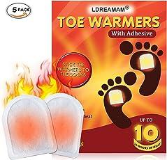 Fußwärmer,Fusswärmer,Zehenwärmer,Toe warmer,Sohlenwärmer Wärmepad, Ultra Dünne Heiz-Pads 10 Stunden Wärmedauer Wärmesohle Fußwärmer Schuhheizung Fußheizung Warme Für Alle Wintersportarten,5 Stück