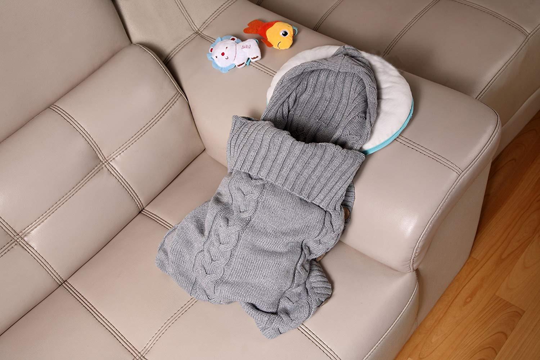 Swaddle Wrap Bebe,Saco de Dormir Cuna Bebe,Unisex Swaddle Manta,Saco de Dormir Bebe Recien Nacido,Manta de Invierno Bebe…