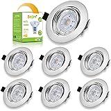 Bojim Spots LED Encastrables Orientables Dimmables, Luminaires Encastrés GU10 6W = 50W Blanc Naturel 4000K 350LM CRI 90Ra+, S