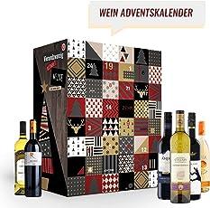 Wein Adventskalender mit 24 außergewöhnlichen Weinsorten aus aller Welt (24 x 0,25l) | Weinkalender als Geschenk für ErwachseneI Weihnachtskalender für Frauen| Weinweltreise | Wein aus verschiedenen Ländern trinken | neue Rotweine Weißweine probieren | besondere Weinselektion | perfekt für Weinliebhaber