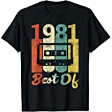Vintage 40e Anniversaire Cassette 1981 Best Of Années 80 T-Shirt
