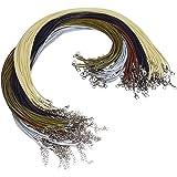 Magiin 100 pz. Cordoncino con Fibbia Corda di Cera Collana con Catena 5 Colori Creazione Gioielli Bracciale Fai da Te Artigia