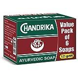 Chandrika Classic Ayurvedic Handmade Soap, 125g (Pack of 6)