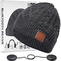 ZRUHIG Cappello Bluetooth Regali Natale, Berretto Bluetooth Uomo Cappello Uomo Invernali con Cuffie Bluetooth Idee…