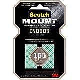3M Indoor Scotch-Mount dubbelzijdige montagetape en -strips: 1 in. x 1 in. (Wit) / 48-pleinen