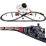 N / C Kit de Tren eléctrico para niños, con Sonidos de Tren realistas, Humo Ligero, fácil de Montar, Kit de riel de Motor de