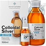 Plata Coloidal Prémium 300 ml ● 40 ppm ● Óptima Concentración, Partículas más Pequeñas, Mejores Resultados ● Certificada por