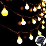 Solar String Lights Outdoor 60 LED, 8M/27Ft Solar Fairy Lights, 8 Modes Waterproof Solar Powered Globe Lights, Garden…