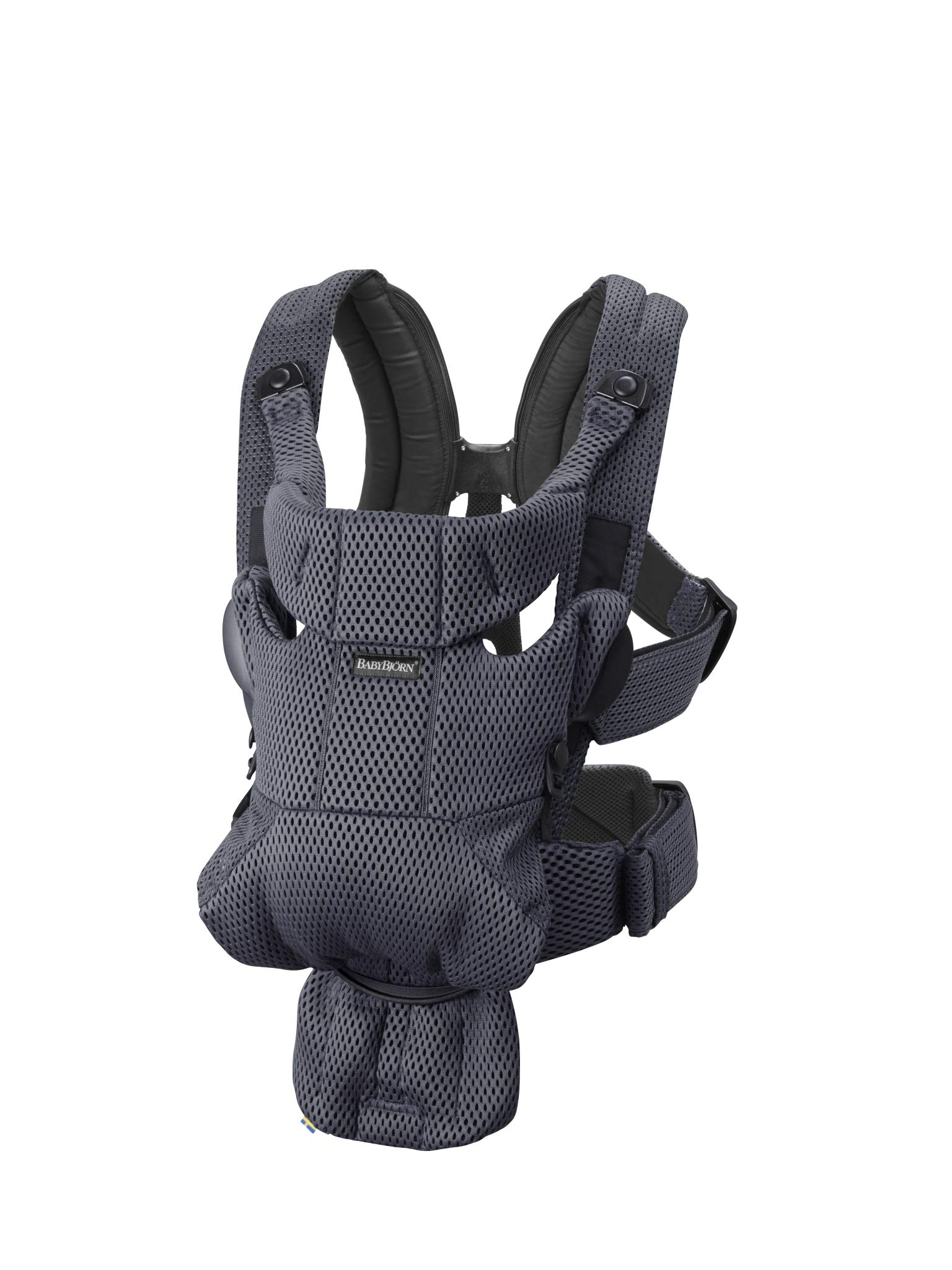 BABYBJÖRN Baby Carrier Move, 3D Mesh, Anthracite Baby Bjorn Excellent comfort with built-in back support and waist belt Easy to put on and take off Soft and airy design in cool 3D mesh 1