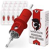 WARRIOR Rode Professionele Tattoo Naalden Gesteriliseerd met Eo Gas Tattoo Naald Cartridge Ronde Liner 20 pcs Chirurgisch Sta