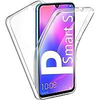 HUANGTAOLI Cover per Huawei P Smart S, Custodia 360 Gradi Protezione Trasparente Ultra Sottile in Silicone TPU Anteriore…