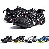 Zapatillas De Trail Running Impermeables para Hombre Mujer Zapatillas Trekking Zapatos Senderismo Deporte Negro Azul Gris Ama