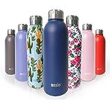 ANSIO waterfles, vacuüm fles & roestvrij staal waterfles dubbele ommuurde geïsoleerde dranken fles warm & koud BPA gratis out