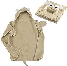 all Kids united Baby Kapuzenhandtuch Kapuzentuch aus 100% Frottee Baumwolle - Baby-Badetuch mit Kapuze - Öko-Tex 100