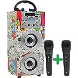 DYNASONIC - (3ª Gen) Altavoz Bluetooth TWS Incorporado, Altavoz Portatil con Modo Karaoke y Micrófono, Radio FM y Lector USB