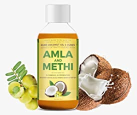 Vriddhi Organic Amla Hair Oil with Methi and Curry Leaves - Natural Hair Growth-Oil to Reduce Hair Loss and Rejuvenate Follicles